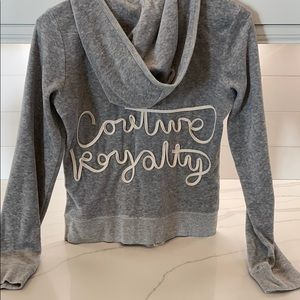 Juicy Couture Gray Velour Hoodie